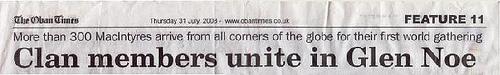 Oban Times Headlines