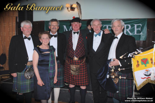 Dignitaries at the Gala MacIntyre Banquet in Oban, Scotland
