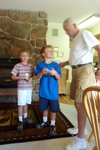 "Drew, Jackson, and ""Uncle Bill"""
