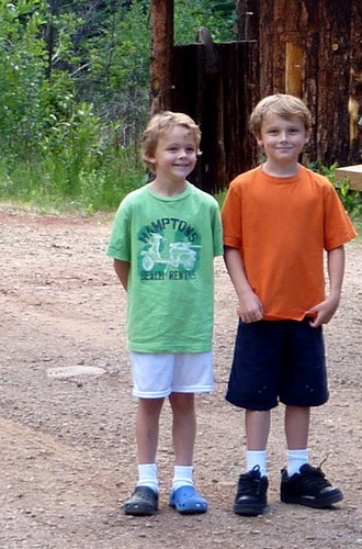 Drew and Jackson at Cabot Ranch
