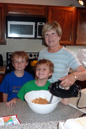 Baking Cookies with the Boys