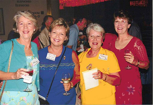 Inge Holland, Sheila Stevens, Ginny Griffith, and Kathy Laabs