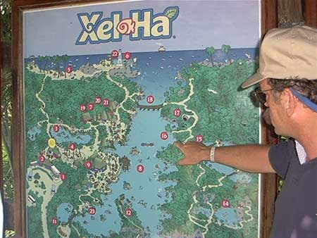 Xel Ha Map