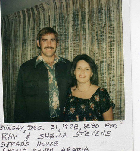 Ray & Sheila Stevens at the Stead's House