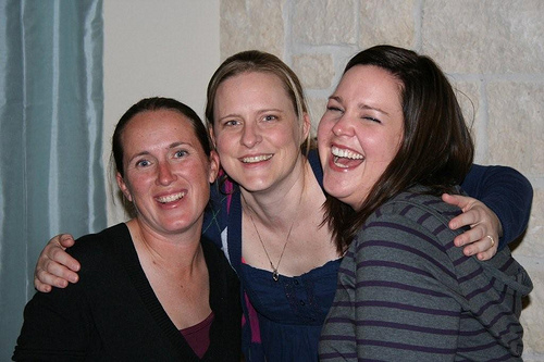 Kara, Cortney, and Brandi at Cortney's House