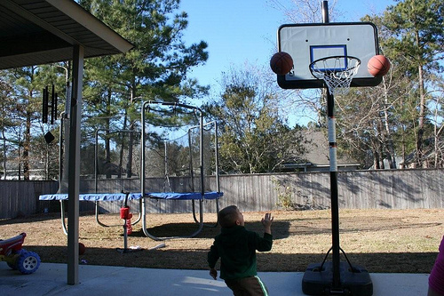 Hoops with the Grandkids