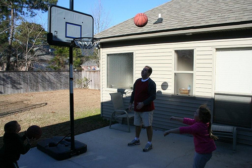 Hoops with the Grandkids (3)