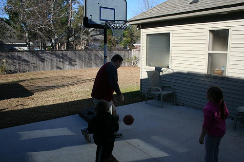 Hoops with the Grandkids (4)