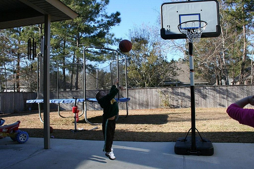 Hoops with the Grandkids (1)
