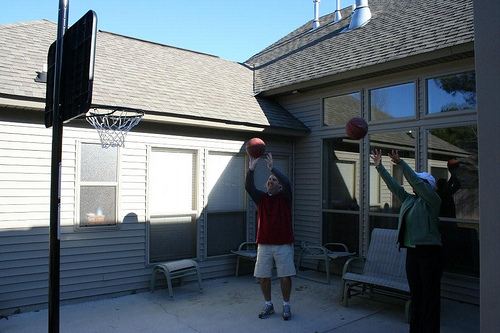 Hoops with the Grandkids (2)