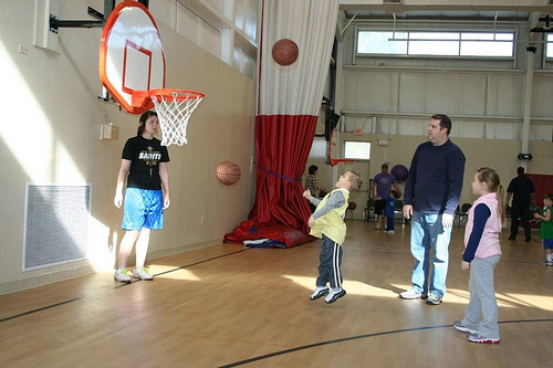 Hoops with the Grandkids (6)
