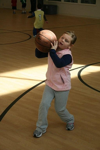 Hoops with the Grandkids (8)