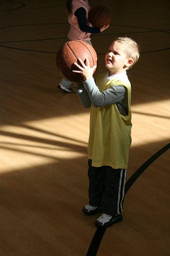 Hoops with the Grandkids (9)