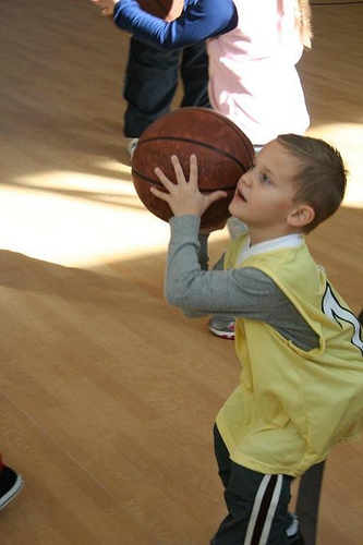 Hoops with the Grandkids (13)