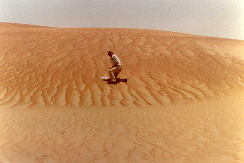 Ray Stevens Getting Red Rub Al Khali Sand