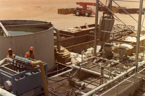 Drilling Mud Mixing Area