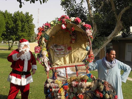Santa Arrives on a Camel