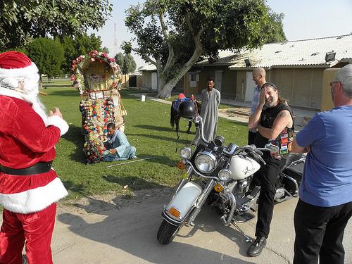 Santa Arrives on a Camel (1)