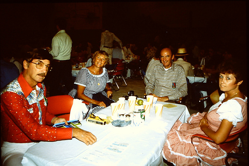 "Square dancing at the Dhahran hoedown in 1983 along with the Jeddah Square Dance Club, ""The Red Sea Squares."""