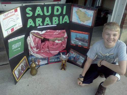 James Michael Nix with Saudi Arabia School Project