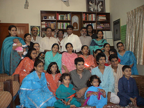 Family Photo on Eid Day in Karachi