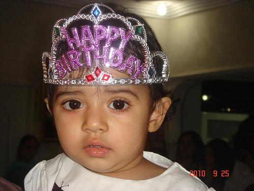 Baby Zara on her First Birthday