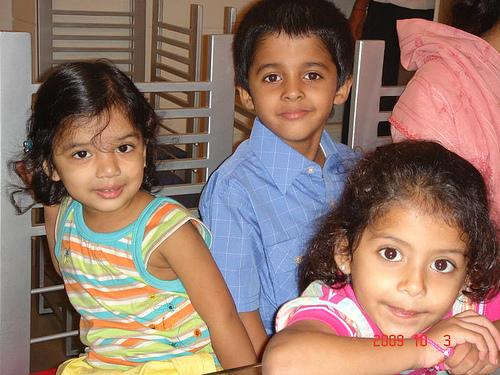 Grandkids Zoya, Habib, and Mariam