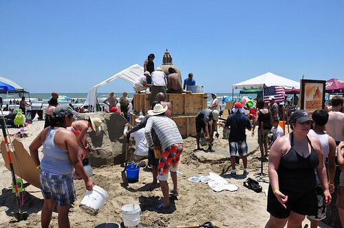 Sand Sculptures on Galveston Beach (2)