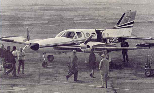 Cessna 421 at Beirut Airport - January 1973