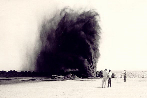Impressive Spray of Crude at Km 1009 – January 1958