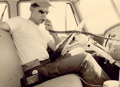 John Koenreich During VHF Survey – 1955