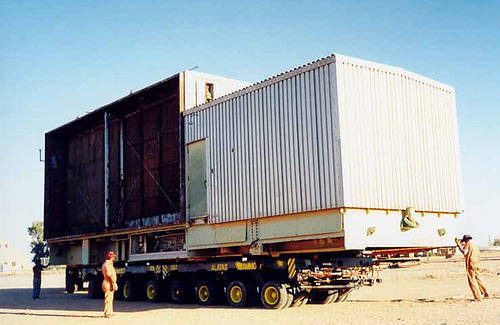 Spare turbine Control Van Removed from Foundation – 1998