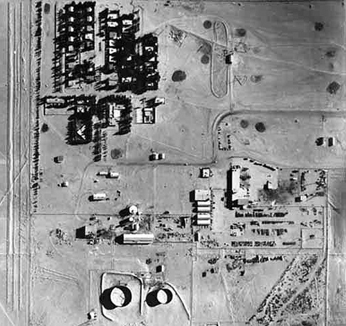 Aerial View of Turaif Pumpstation in 1964