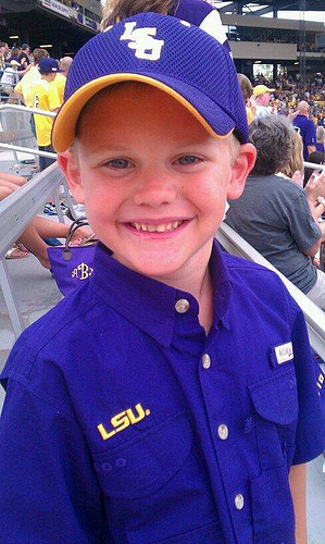 Brody at LSU Game