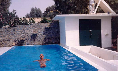 Andre de Raad in his DIY Swimming Pool in Turaif – September 1983