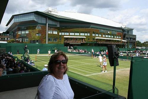 Sheila Stevens at Wimbledon