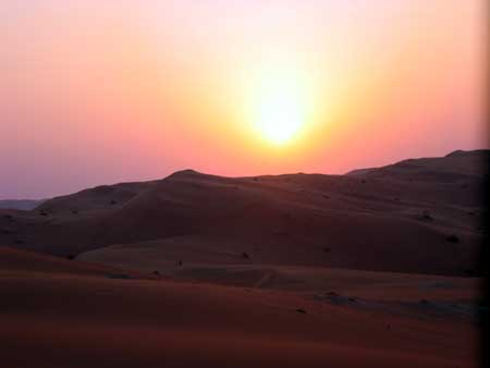 Sunset in Shaybah