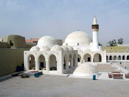Mosque;  Jail in Forground