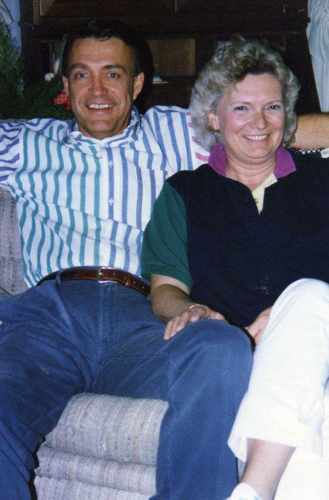 Bruce and Jeanne Lindsay in Dhahran, Saudi Arabia - 1995