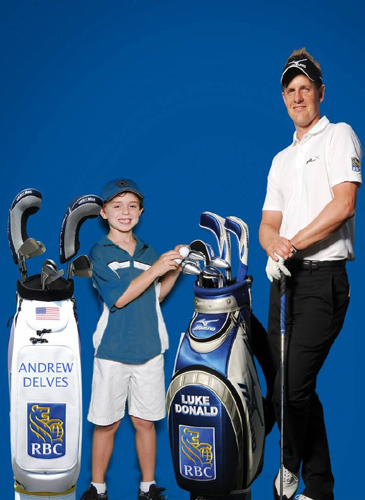 Andrew Delves and Luke Donald